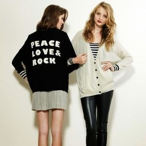 Autumn Cashmere Peace Love & Rock Cardigan